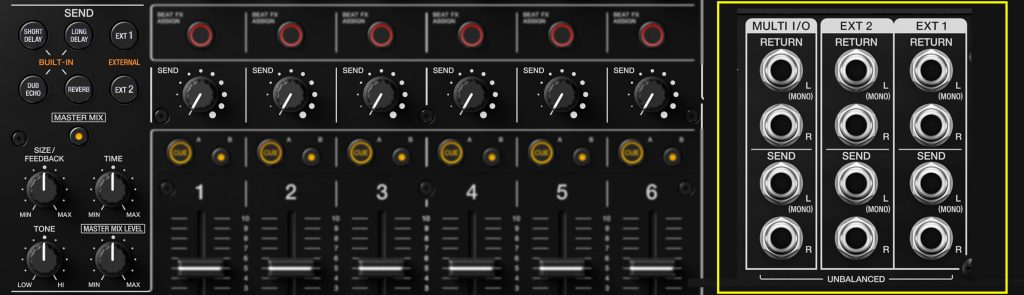 Pioneer DJ DJM-V10 Send FX