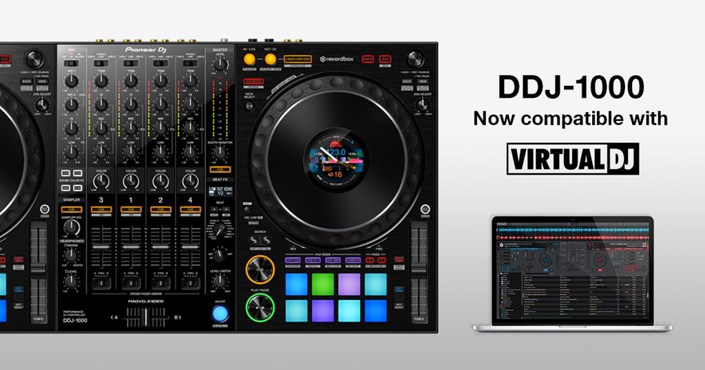 Pioneer DJ DDJ-1000 тепер офіційно підтримує VirtualDJ 2021