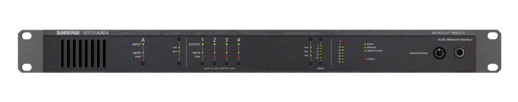 Shure MXWANI4 Audio Network Interface