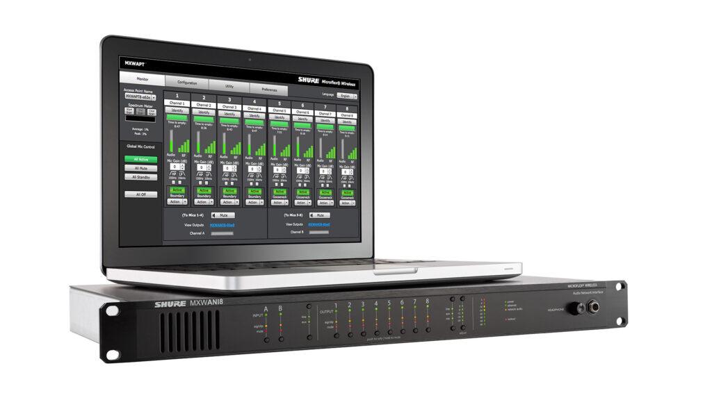 Shure MXWANI8 + MXW Control Software