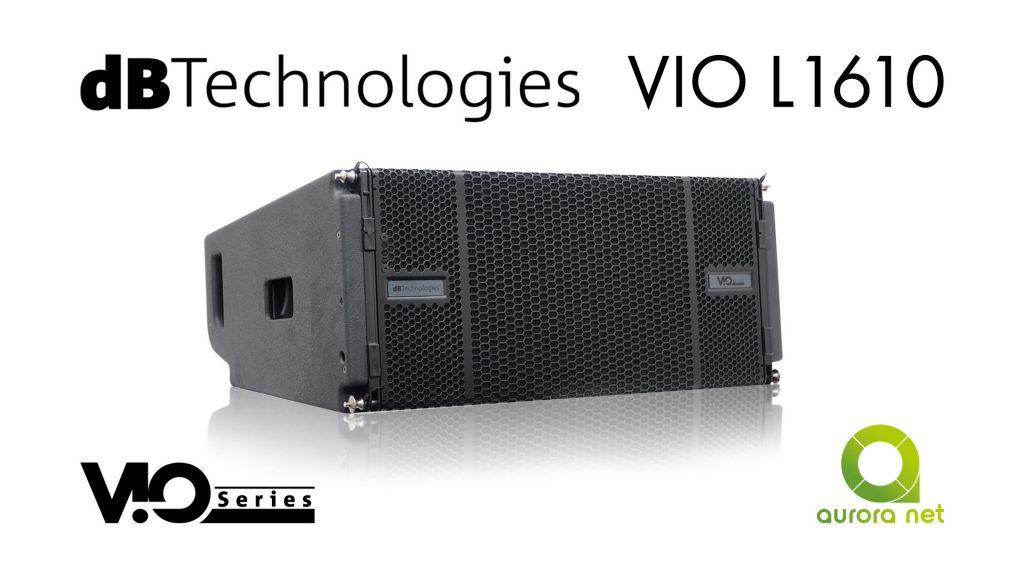 dBTechnologies VIO L1610 — трьохполосний лінійний масив на 10″ динаміках