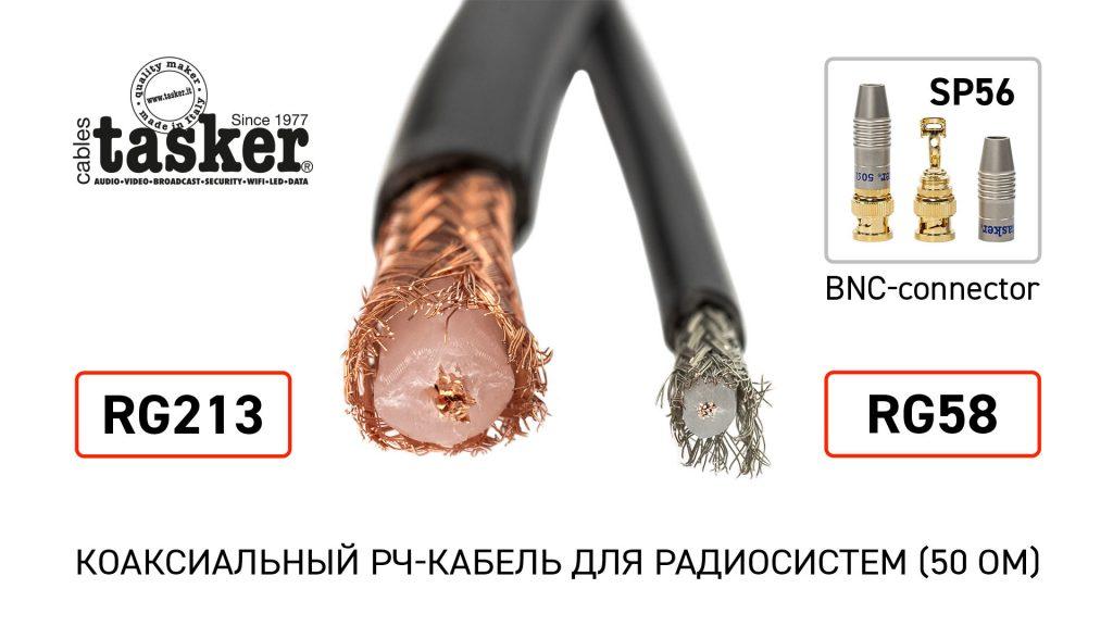 Tasker RG58 и RG213 — итальянские высококачественные коаксиальные РЧ-кабели (50 Ом) доступны в Украине!