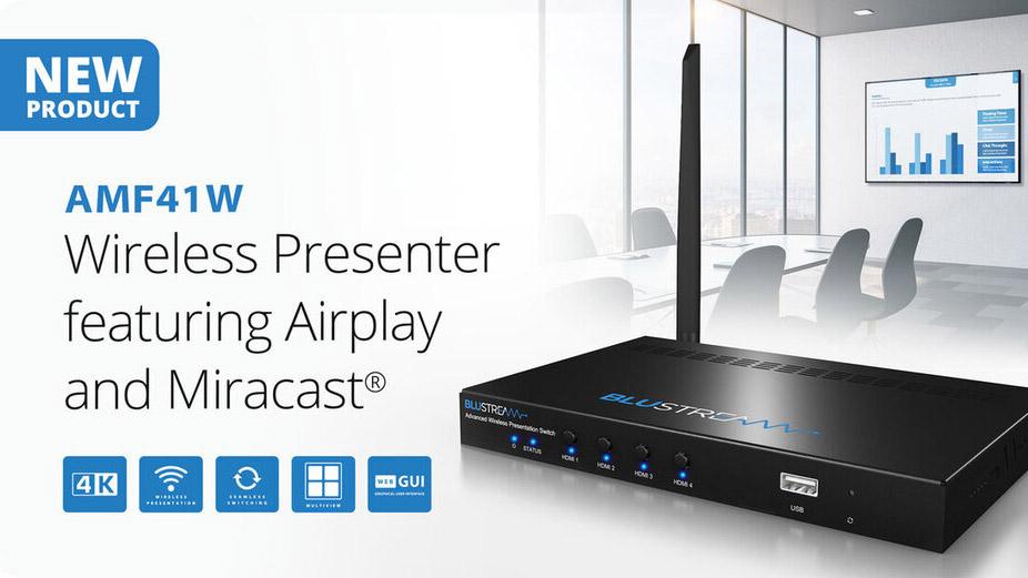 Новый беспроводной презентер Blustream AMF41W с функциями Airplay и Miracast®